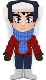 Weather Kizray: Cold, -13°C, variable cloud, no precipitation